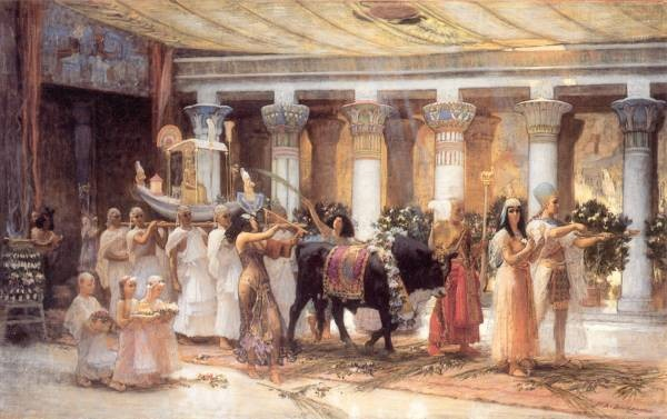 Bridgman F The Procession of the Sacred Bull Anubis